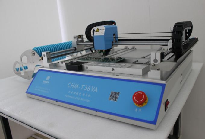 Best seller CHMT36VA dual vision camera + External PC, SMT Pick And Place Machine, Closed-loop control, 110VAC / 220VAC