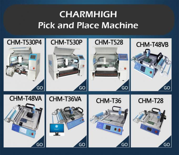 CHMT36 Desktop SMD LED Pick And Place Machine, 29 Feeders 2 heads, Super quality Best seller