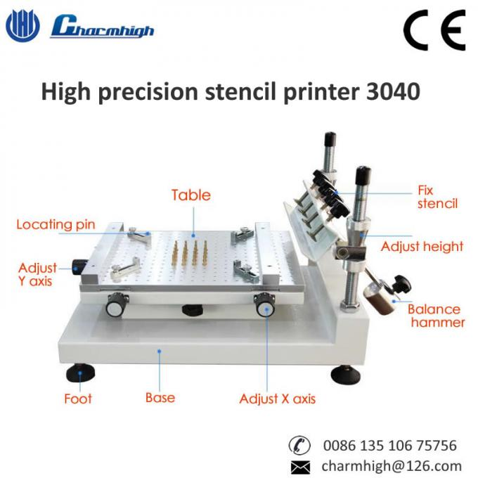 High Precision Stencil Printer ( 3040 ) Silk printer, Work with SMT Pick and Place Machine