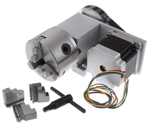 Nema 34 ( 4:1 ) K11-100mm Chuck 3 jaw CNC 4th Axis Kit CNC Dividing Head