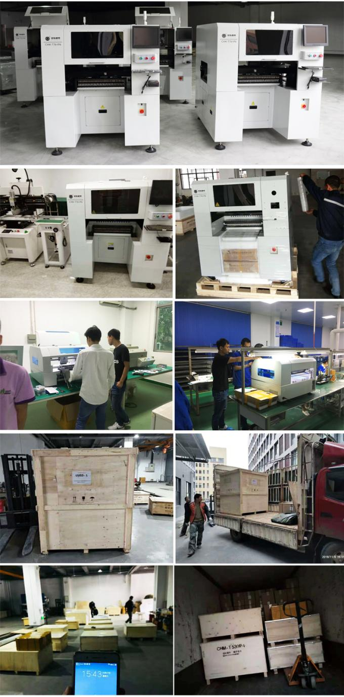 High configuration CHMT761P6 Charmhigh 6 Heads 60 Feeders, Auto Rails, Auto Nozzle change, PCB assembly line