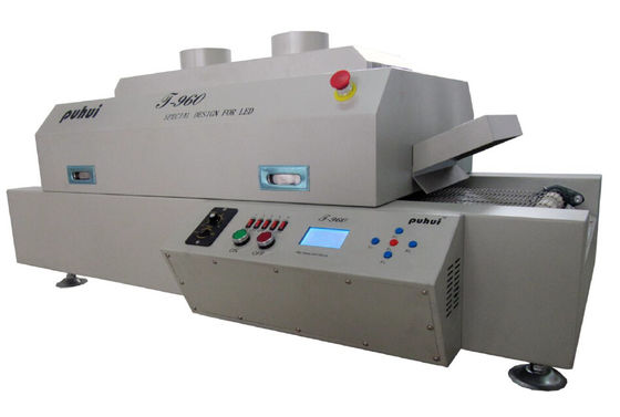 China T960 LED 4.5kw Infrared SMT Reflow Oven , 960mm* 300MM Reflow Soldering Oven supplier
