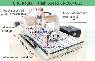 China 4th Axis CNC6040 High Speed Version Desktop CNC Router Machine for 3D Engraving supplier