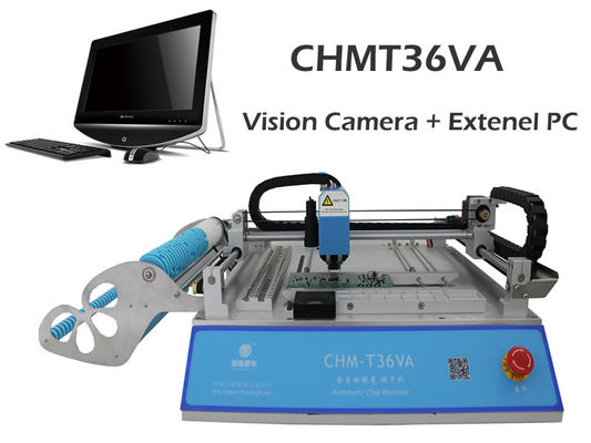 China Best seller CHMT36VA dual vision camera + External PC, SMT Pick And Place Machine, Closed-loop control, 110VAC / 220VAC supplier