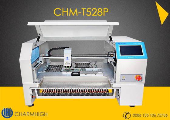 China CHMT528P 28 feeder 2 Heads Auto Calibrate Mark2 Benchtop Advanced SMT Chip Mounter Vision + Yamaha Feeder supplier