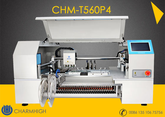 China 4 Heads CHMT560P4 60pcs Yamaha pneumatic Feeders Charmhigh Desktop Pick and Place Machine supplier