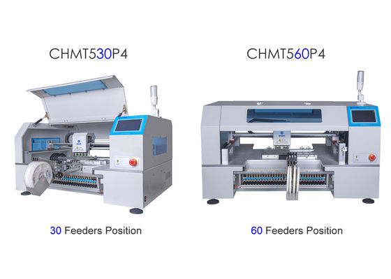 China 2 Types Charmhigh 4 Heads Feeder pick and place machine CHMT530P4 + CHMT560P4 supplier