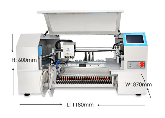 China Charmhigh CHMT560P4 SMT p&p machine Auto calibrate Mark2, 0201-5050, SOP, QFN supplier