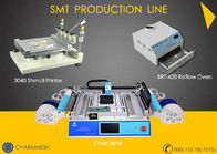 SMT Production Line Stencil Printer 3040 / CHMT48VB SMT P&P Machine / Reflow Oven BRT-420
