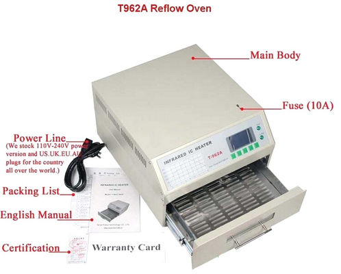 China T962A Benchtop Reflow Oven 300*320mm 1500w IC Heater Infrared BGA Rework Station distributor