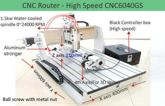 China 4th Axis CNC6040 High Speed Version Desktop CNC Router Machine for 3D Engraving distributor