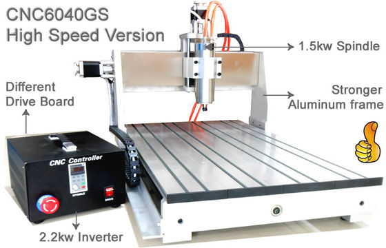 China Assembly USB 3 Axis Advanced CNC Router 6040 / 1.5KW Spindle 2.2KW Invert CNC Engraver Machine distributor