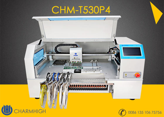 China Advanced 4 Heads High speed Desktop pick and place machine CHMT530P4  + Yamaha pneumatic feeder distributor