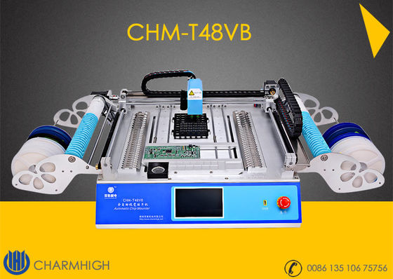 China CHMT48VB 58pcs Feeders + Vision system Charmhigh Desktop Pick and Place Machine distributor